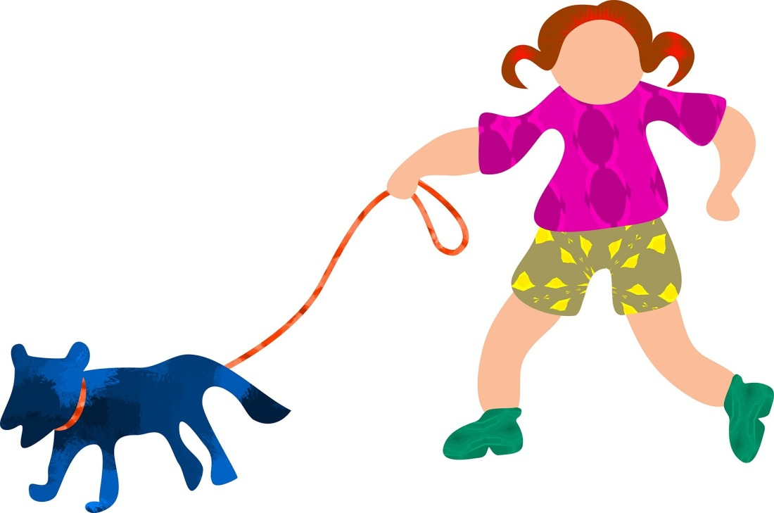 dog walker Image by Prawny from Pixabay